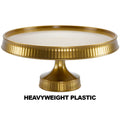 Premium Extra Heavyweight Gold Cake Plastic Stands 10.5