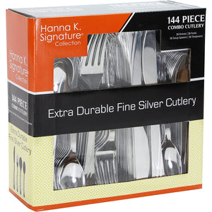 Plastic Cutlery Silverware Heavyweight Disposable Flatware, Plastic Cutlery Like Silver Combo Pack - 36 of each Fork, Knife, Teaspoon, Soup spoon