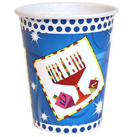 Paper Cup Happy Chanukah Hot Cold 9 oz 24Ct