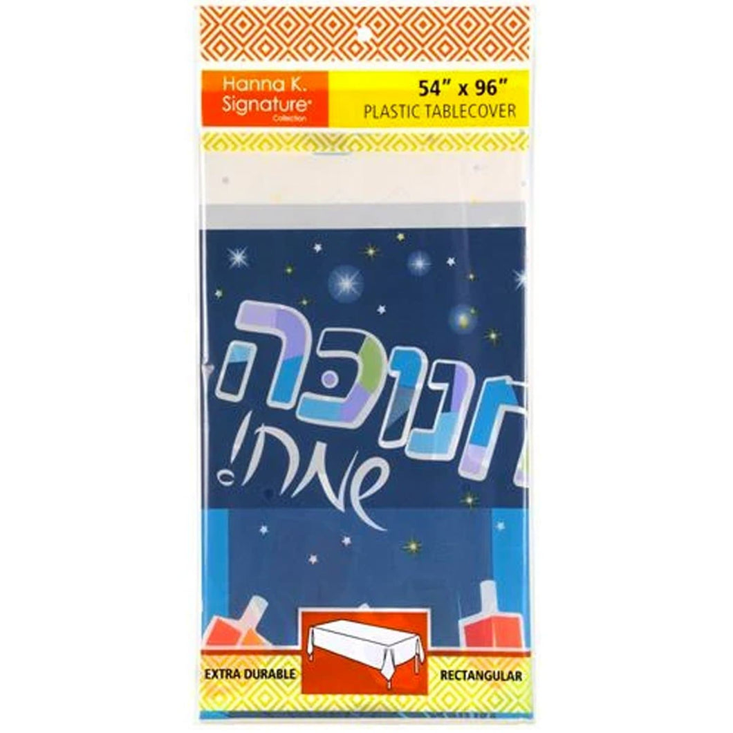 Chanukah Spirit Heavyweight Plastic Table Cover 54