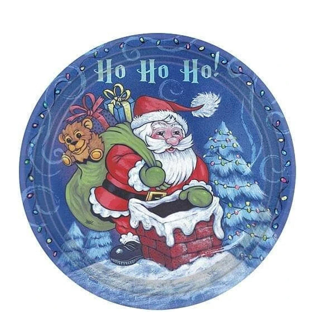 Christmas Santa Premium Heavyweight Dinner Paper Plates 7
