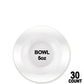 Heavyweight Plastic Plastic Bowls Value Pack White Pearl 5 oz Lillian