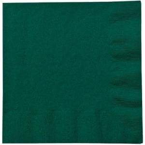 Hunter Green Lunch Napkins Party Dimensions
