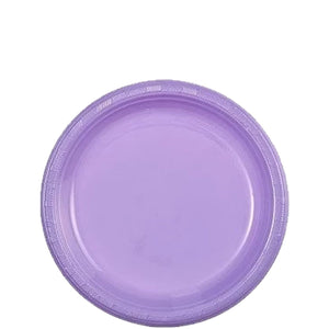 "Hydrangea Plastic Plate 7"" Party Dimensions"