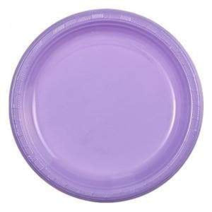 "Hydrangea Plastic Plate 9"" Party Dimensions"
