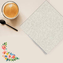 Ivory Texture Lunch Napkins