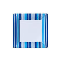 Blue Stripe Square Plates 7