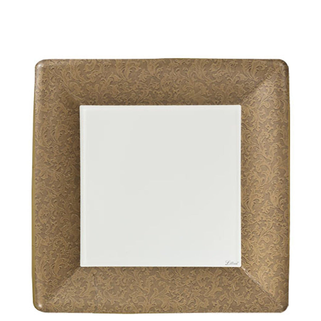 Lillian Tablesettings Texture Square Dinner Paper Plates Gold 7