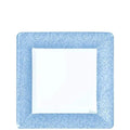Lillian Tablesettings Blue Texture Square Dinner Plate 7