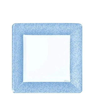 Lillian Tablesettings Blue Texture Square Dinner Plate 7""