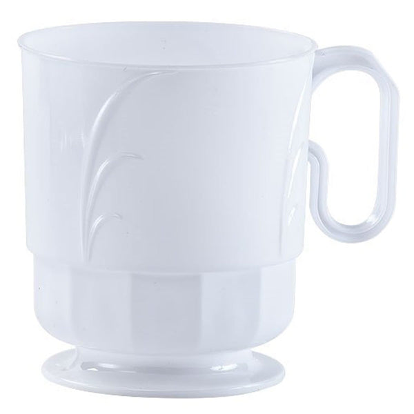 Lillian Tablesettings Elegance Coffee Mug Pearl 8oz 40Ct
