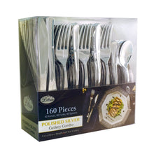 Cutlery Silverware Extra Heavyweight Disposable Flatware Combo Silver 160Ct - OnlyOneStopShop