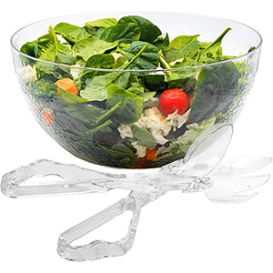 Pebbled Plastic Bowl Clear 140oz