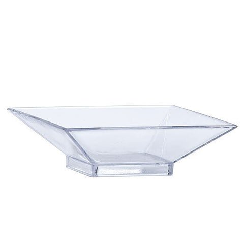 Lillian Mini Plastic Square Serving Dish Clear dishes