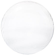 "Lightweight Plastic Plates frosty Clear 10"" Blue Sky"