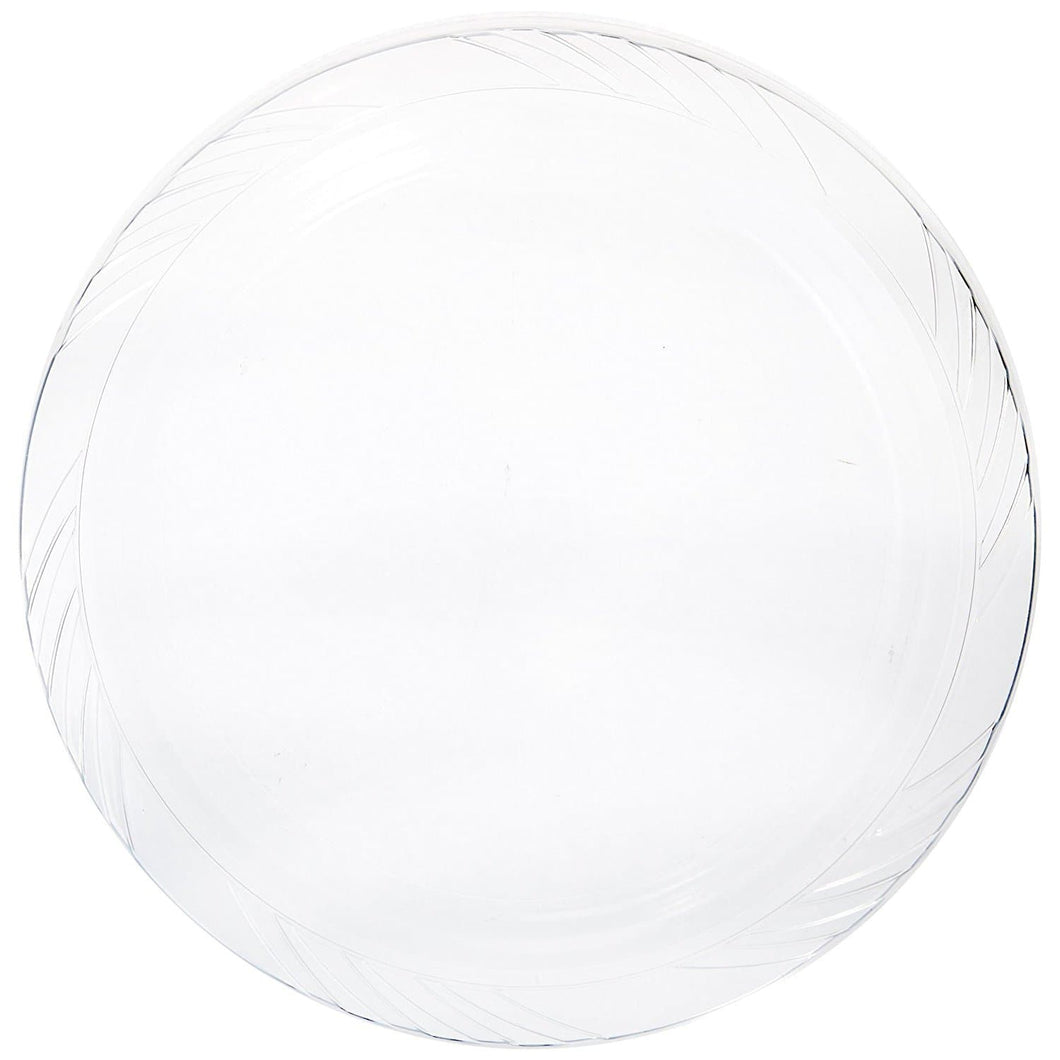 Lightweight Plastic Plates frosty Clear 10