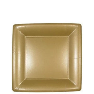 "Lillian Square Paper Plates Solid Gold 7"" Lillian"