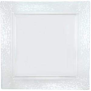 "Lillian Tablesettings Square Pebbled tray Clear 12"" (PACK OF 2) Lillian"