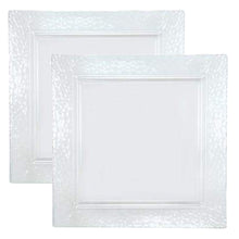 "Lillian Tablesettings Square Pebbled tray Clear 12"" (PACK OF 2)"