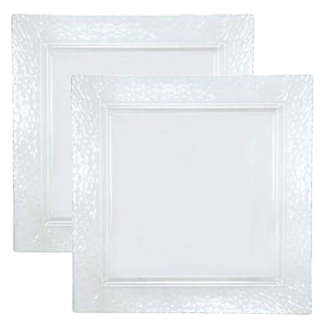 Lillian Tablesettings Square Pebbled tray Clear 12
