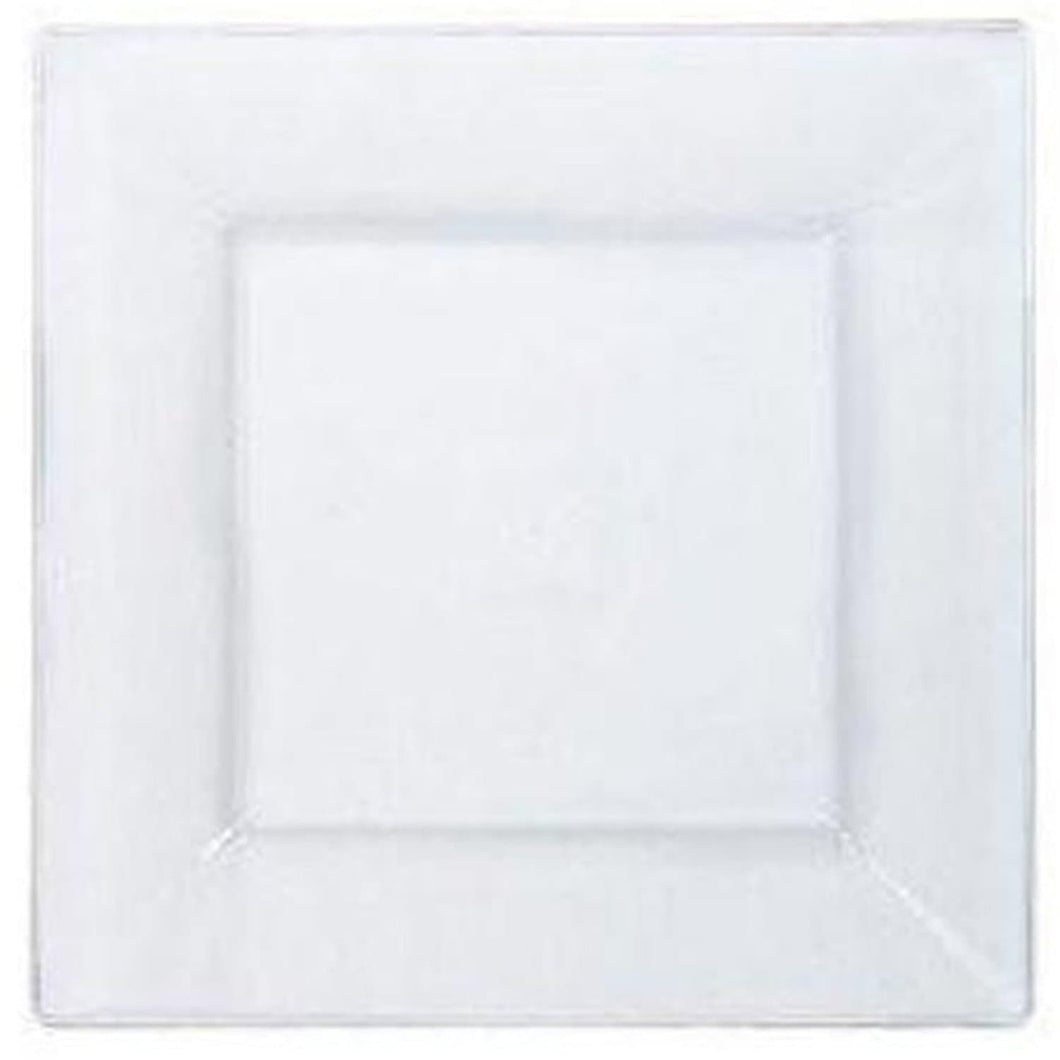 Lillian Tablesettings Square Plastic Dinner Plates Clear 10.75