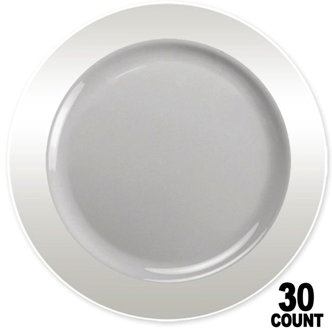Magnificence Plastic Dinner Plate Clear 10.25
