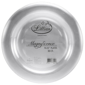 "Magnificence Plastic Dinner Plate Clear 10.25"" Lillian Tablesettings"