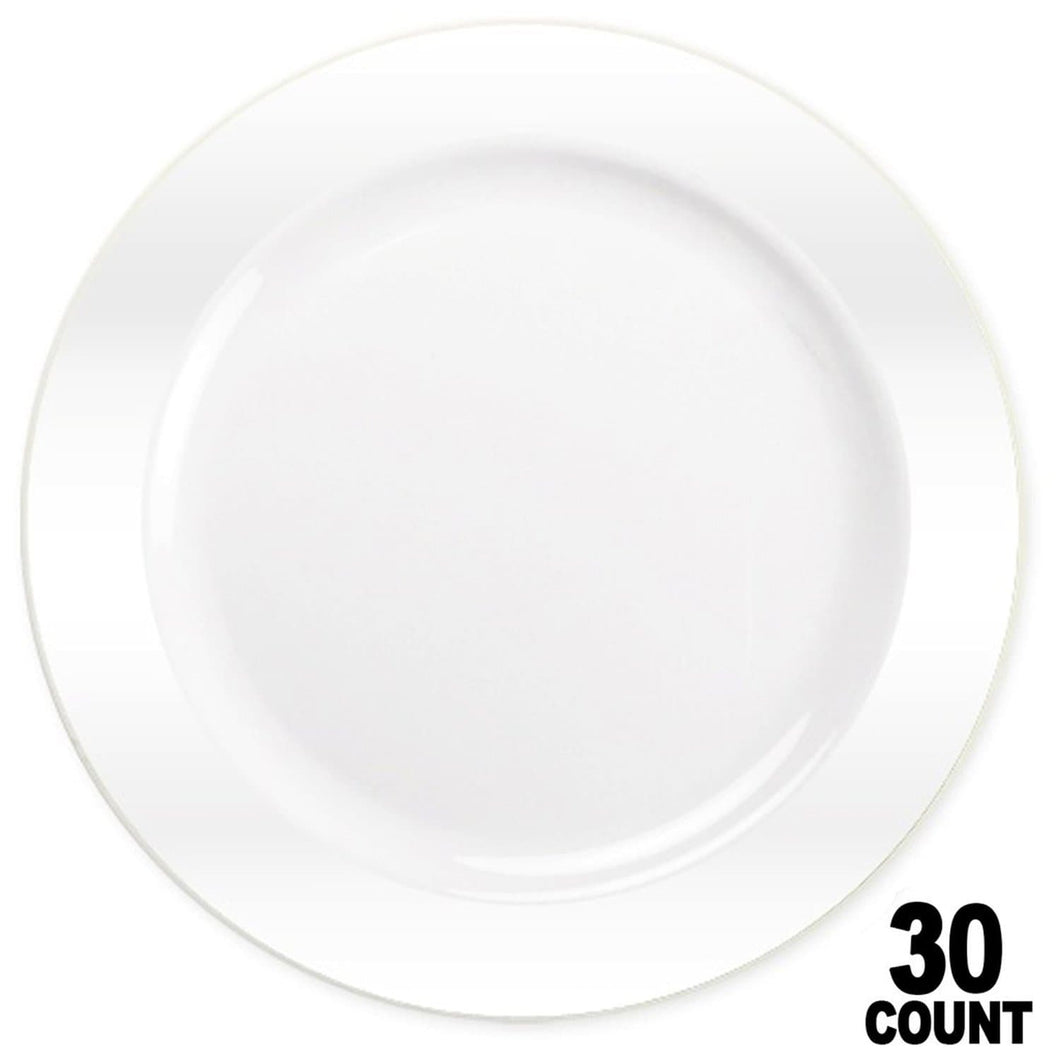 Magnificence Plastic Dinner Plate Pearl White 10.25