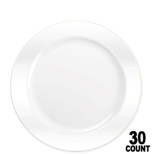 "Magnificence Plastic Dinner Plate Pearl White 9"" Lillian Tablesettings"