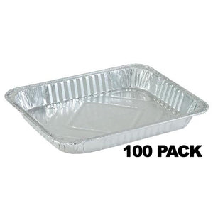 Disposable Aluminum 1/2 Size Shallow Foil Pan 1ct 12.75 X 10.38 X 1.67 100PK