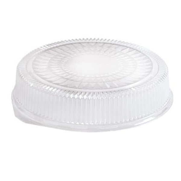 "12"" Clear Plastic Dome Lid 5PK"