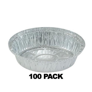 "Disposable Aluminum 9"" Round Foil Pans 100PK"