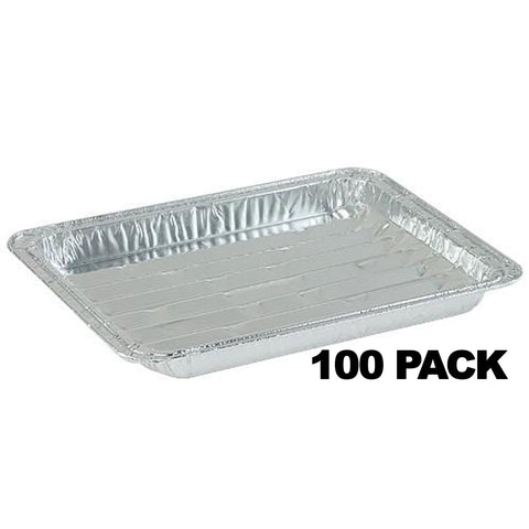 Aluminum Small Broiler Pan 9 X 6 X 1.33 100PK