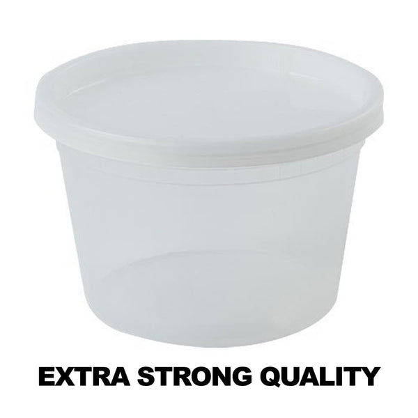 Extra Strong Quality Deli Container with Lids 16oz 10Ct