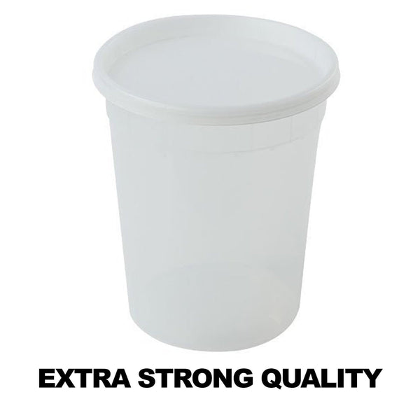 Extra Strong Quality Deli Container with Lids 32oz 5Ct