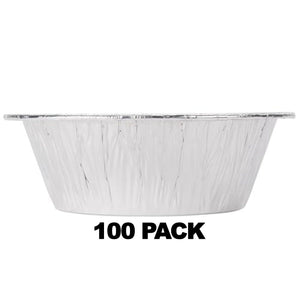 Disposable Aluminum 8'' Extra Heavy Deep Foil Pan 100PK