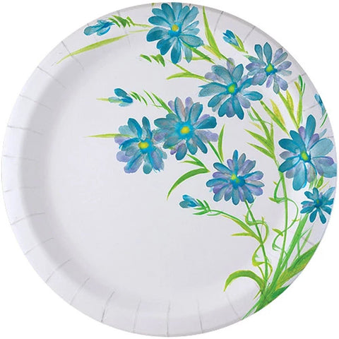 "Nicole Home Collection Everyday Paper Plate Blue Floral 10.25"" 24Ct"