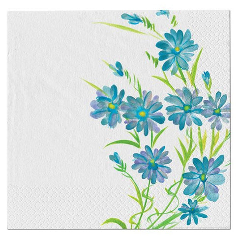 Blue Floral Lunch Napkins 40ct - OnlyOneStopShop