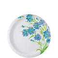 Nicole Home Collection Everyday Paper Plate Blue Floral 6.75