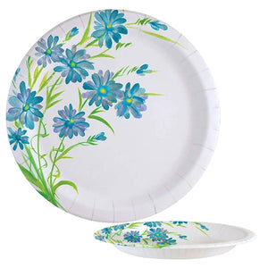 Nicole Home Collection Everyday Paper Plate Blue Floral 8.5""