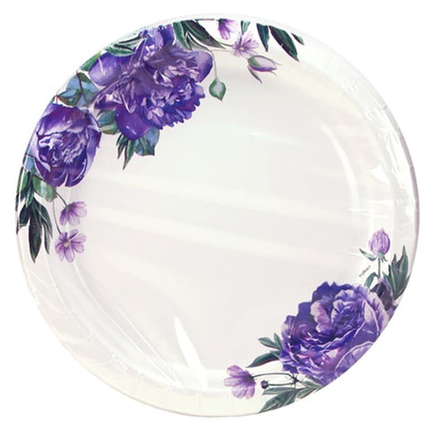"Nicole Home Collection Design Round Coated Plates Cold Hot Pack 10"" 24Ct"