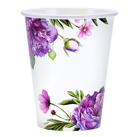 Paper Cup Hot Cold Peony 12 oz  24Ct