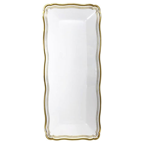 Aristocrat Collection Narrow Serving Trays White & Gold
