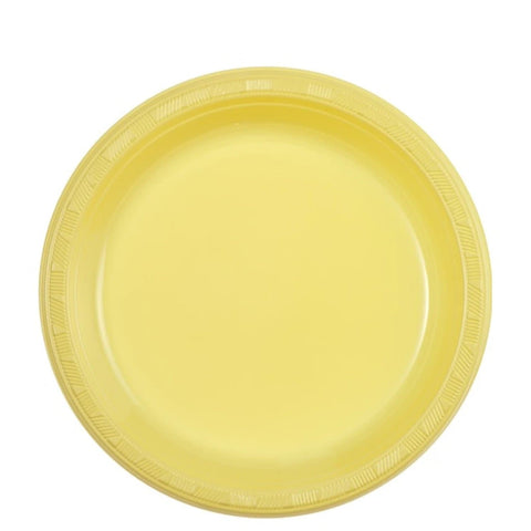"Hanna K. Signature Yellow Plastic Plates 7"" 50Ct"