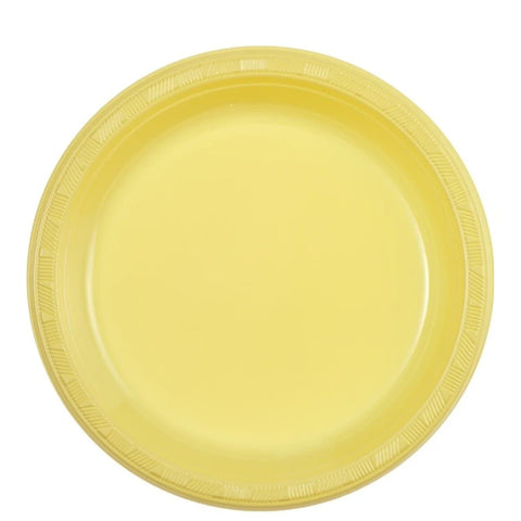 "Hanna K. Signature Plastic Plates Yellow 9"" 50Ct"