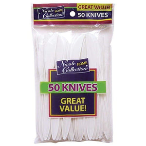 Nicole Home Collection 50 Count Medium Weight Knife White Nicole Collection