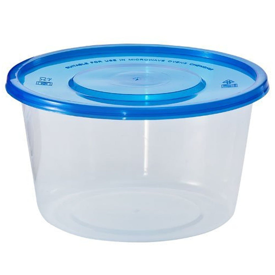 Nicole Home Collection Containers With Lids Large Round Blue 34 oz 3Ct Nicole Collection