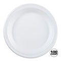 Nicole Home Collection Everyday Dinnerware Foam Plate White 9