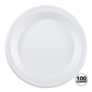 "Nicole Home Collection Everyday Dinnerware Foam Plate White 9"" Nicole Collection"
