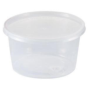 Nicole Home Collection Food Storage Container Round Clear 16 oz 6Ct Nicole Collection